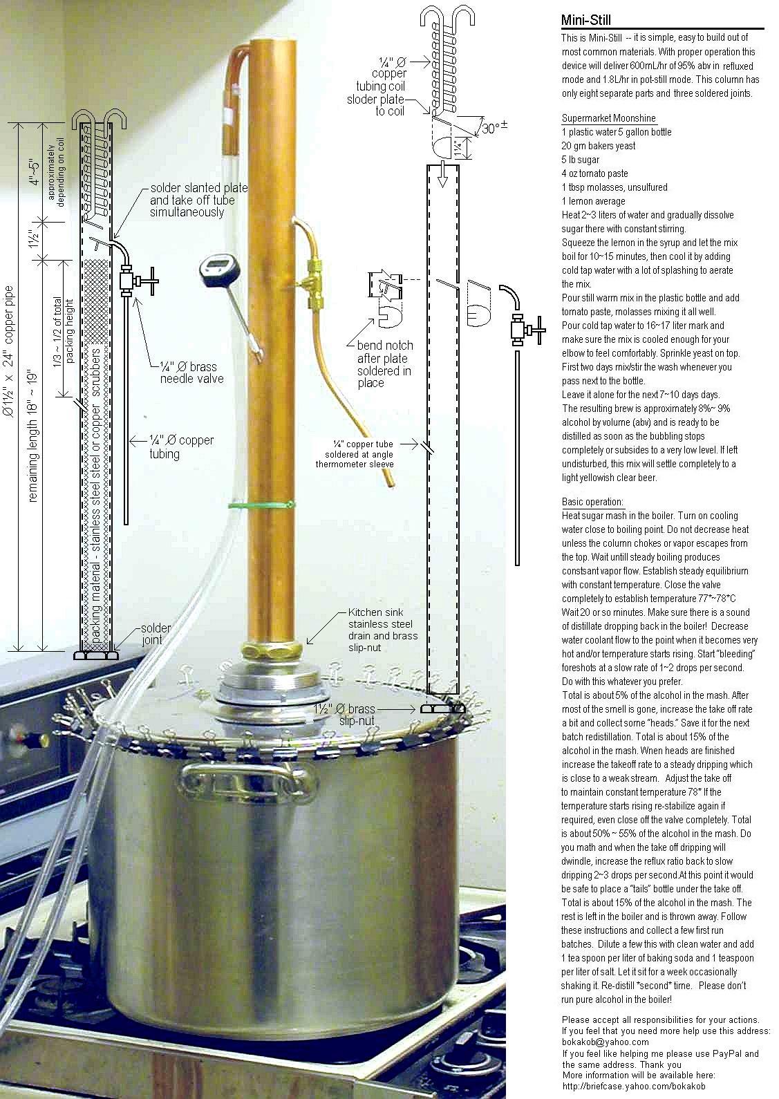 Ректификационная колонна самогонный аппарат